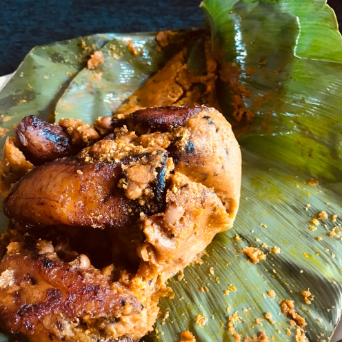 fried plantain and beans